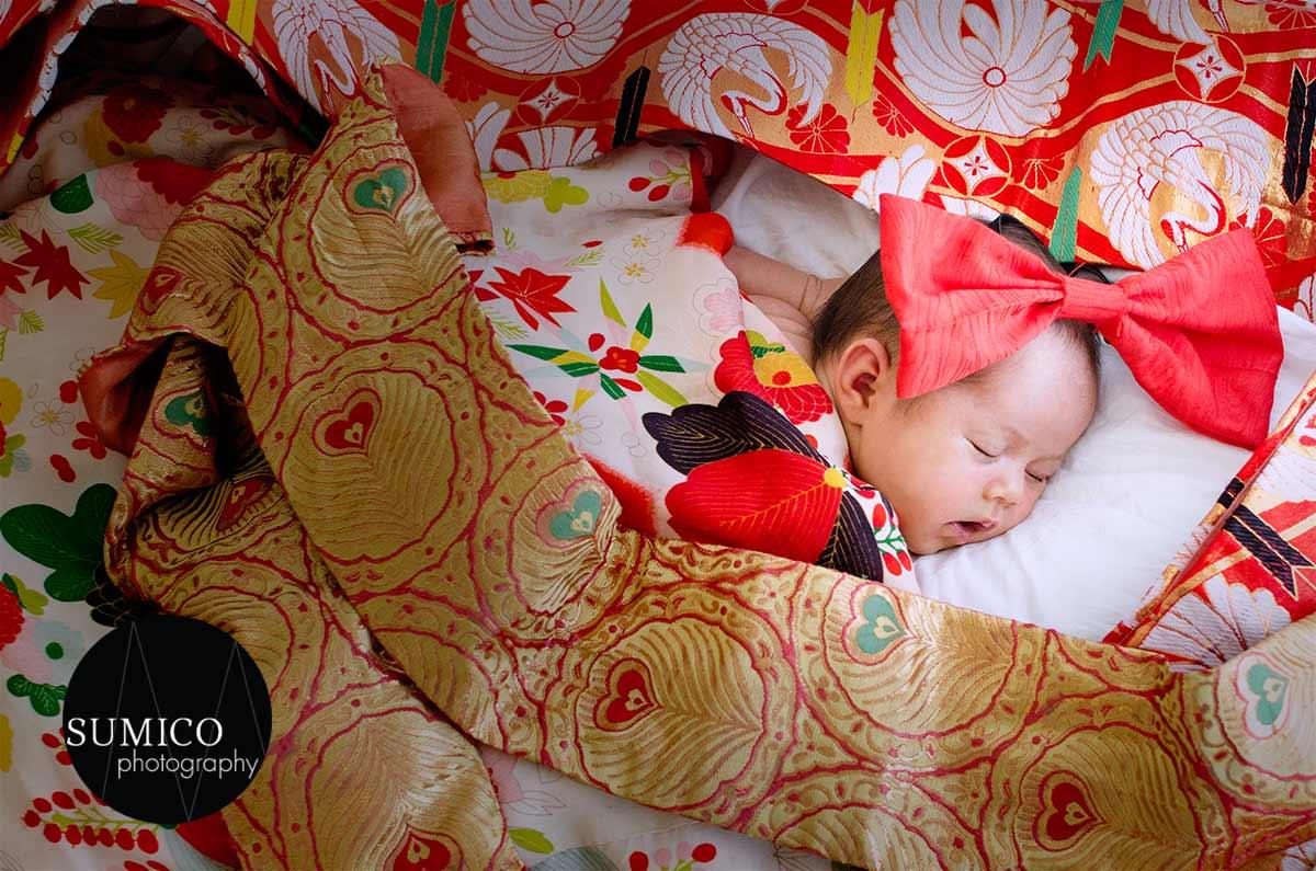 baby portrait pimpama - baby in Kimono