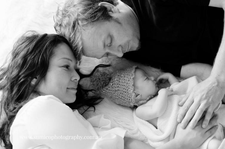 Newborn Baby & Parents Portrait Brisbane