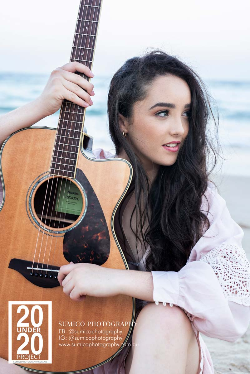 Teen Musician Portrait on the Main Beacy by Sumico Photography