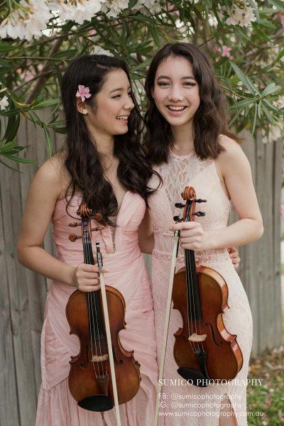 Teen Sisters Portrait