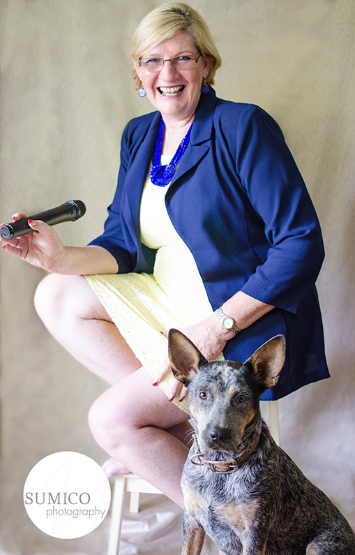 Business Woman and Dog