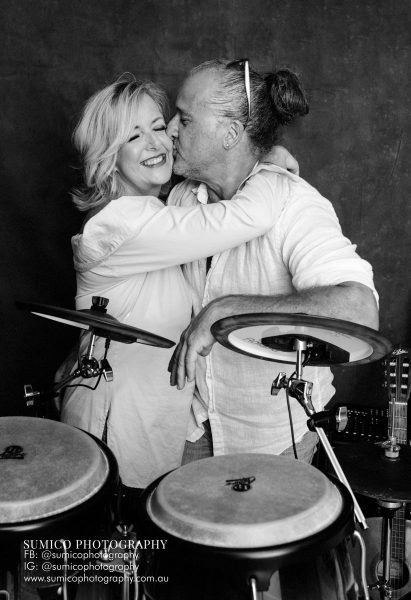Couple Portrait with drum set
