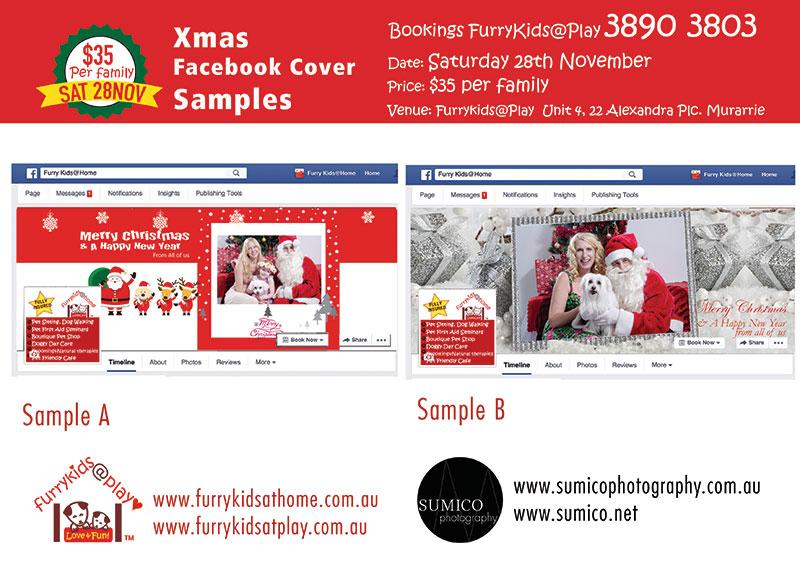 Facebook Cover Image Samples - Santa Paws 2015