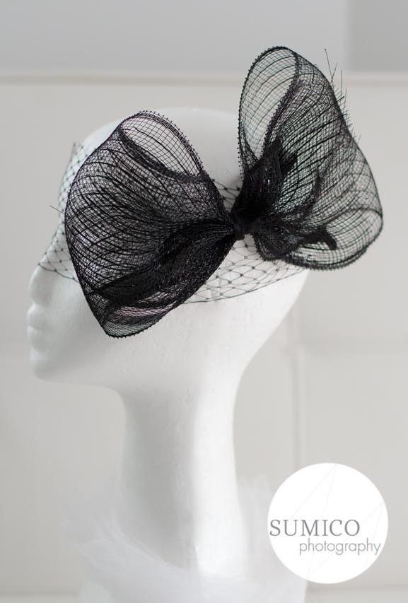 Black Ribbon Headpiece