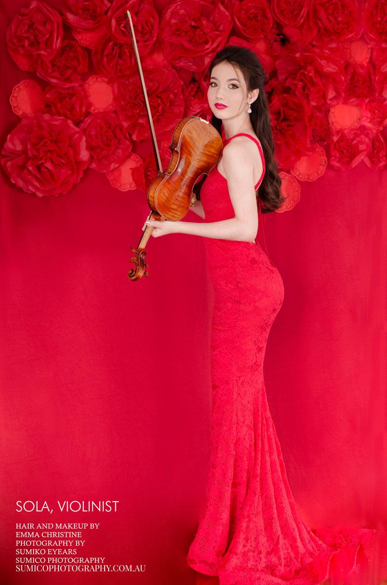 Portrait of Violinist in Brisbane
