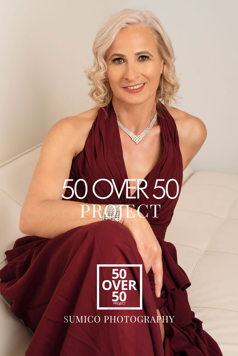 50 over 50 project | Portraits of women over 50 by Sumico Photography Gold Coast