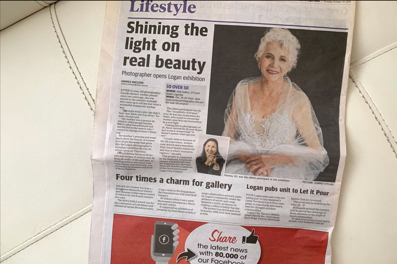 Albert Logan Newspaper, 50 over 50 project by Sumico Photography