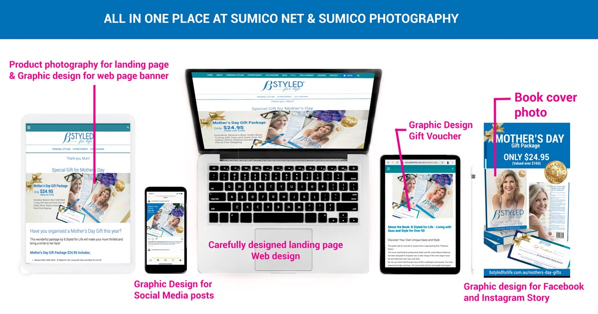 Landing Page package by Sumico Net & Sumico Photography